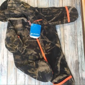 Columbia Fleece Snowsuit Camo New w/tags